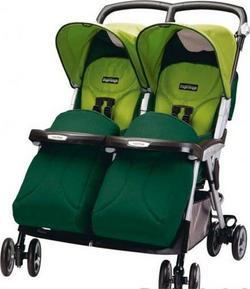 Peg Perego коляска для близнюків Aria Twin Зелено-салатовый IPAT130034DA44GT44