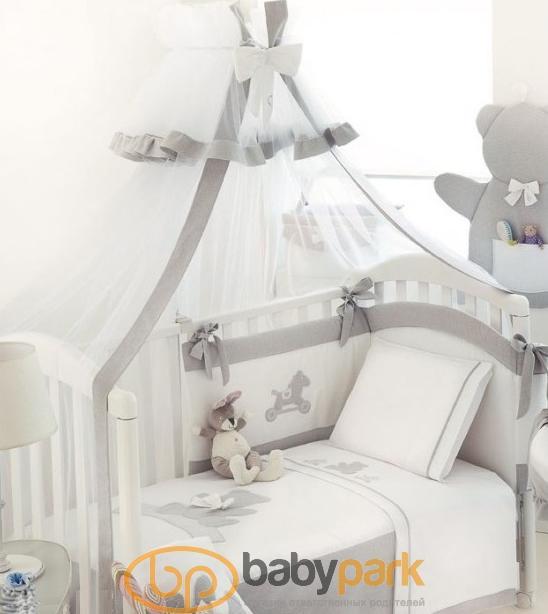 MaryBaby набір білизни для дитячого ліжечка Bebe Серый 12 CP BEB G c80b33fca08d4