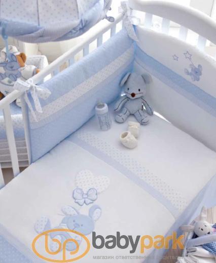 ... MaryBaby набір білизни для дитячого ліжечка Delice Голубой 12 CP DE AZ  ... cf116c9ec4b28