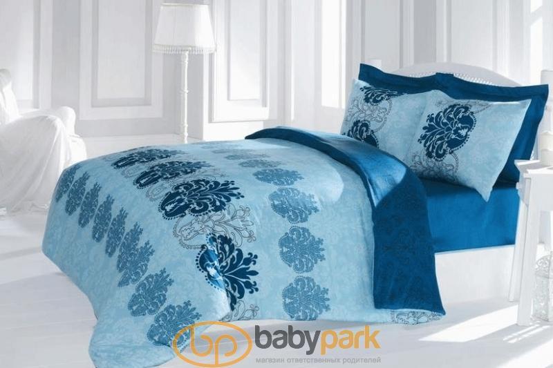 Issimo Home постільна білизна Сатин євро Blue botany 500442ih f42b98ce9e8e9
