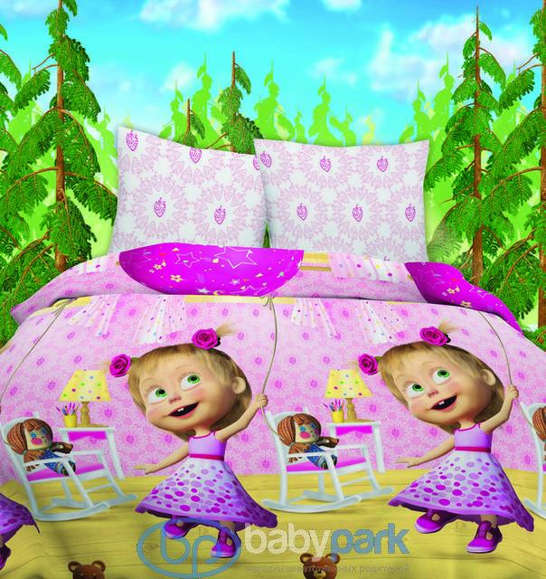 ... Маша и Медведь постельное белье Бязь детское День рождения 314912tx ... 85bccf0645dfe
