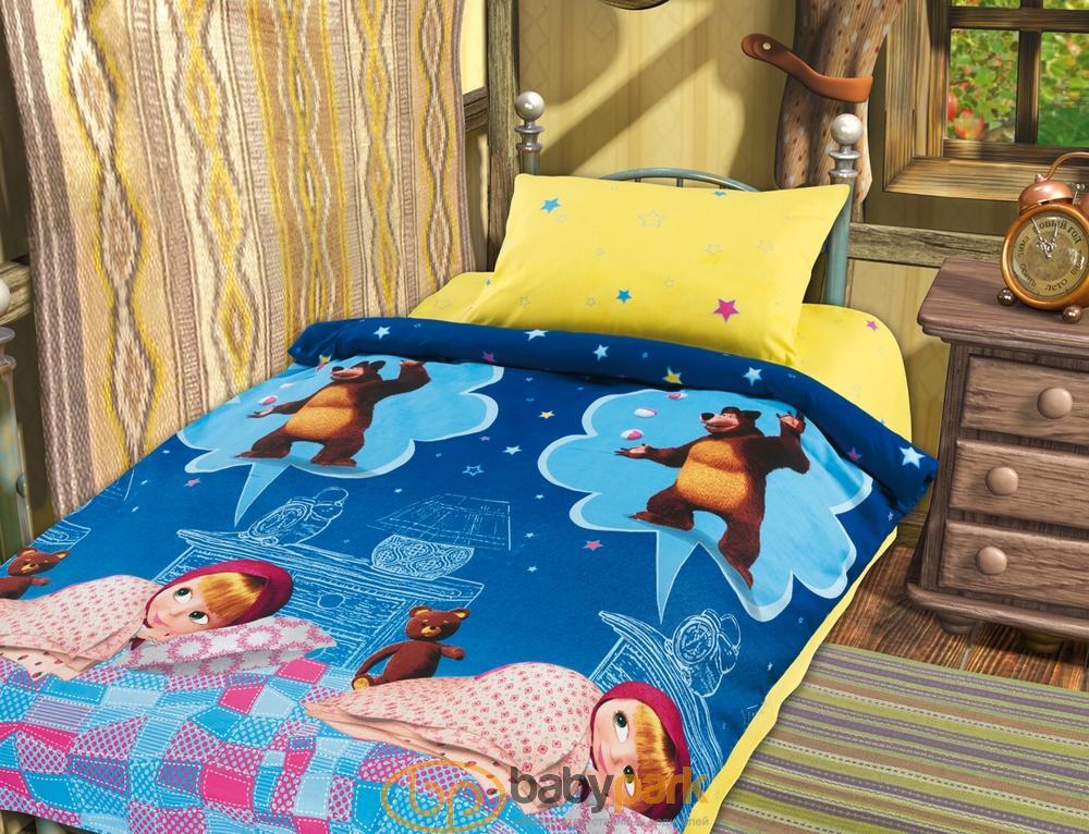 ... Маша и Медведь постельное белье Бязь для новорожденных Машин сон  244355tx ... 9a0a021058c54