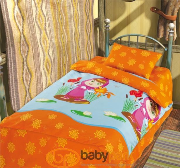 Маша и Медведь постельное белье Бязь для новорожденных Золотая рыбка  172020tx 0ab3fff79c140