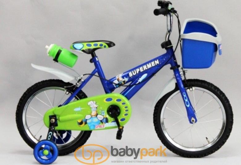 Geoby велосипед двоколісний JB1640 Q Синий с зеленым JB1640 Q -E105D ed61311f5e283