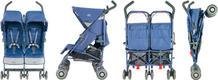 Maclaren коляска-тростина для двійні Twin Techno Crown Blue WDN13022